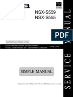 Aiwa Manual de Service NSXS555