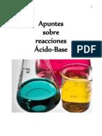 Apuntes sobre reacciones Ácido-Base