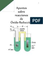 Apuntes sobre reacciones de Óxido-Reducción