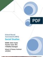 Oshin Taylor Social Studies SBA