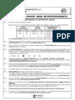 Prova 41 - Engenheiro Jtnior - Area Process Amen To