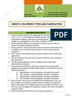 Sheet5 - Polymers Types & Fabrication