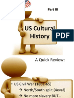 Cultural History of the US, Part III