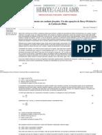 Uso das Equações de Darcy-Weisbach e Colebrook-White em Condutos Forcados