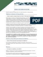 Plan de Accion - Modelo - La Caixa - Emprendedor XXI
