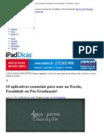 10 aplicativos essenciais para usar na Escola, Faculdade ou Pós-Graduação! « iPad Dicas – Absolutamente tudo sobre o iPad