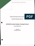 SEM EDS Gunshot Residue Training v1.0