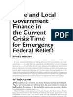 State and Local Government Finance in the Current Crisis