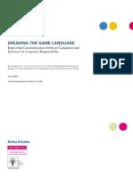 Speaking the Same Language - Communications on SR - Arthur D. Little