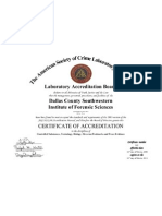 ASCLD-LAB Accreditation Certificate 2008