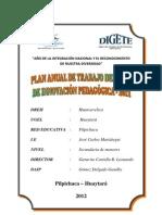 PLAN ANUAL DE TRABAJO DEL AULA DE INNOVACIÓN PEDAGÓGICA 2012