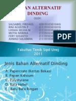 BAHAN ALTERNATIF DINDING