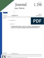 EU No 1149_2011 Amending Regulation EC No 2042_2003