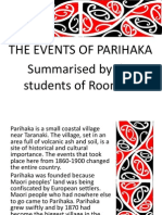 Parihaka Summary Power Point Presentation