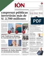 PP 100112 Diario Gestion - Diario Gestión - Portada - pag 1