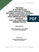 Recurso de Autorizacion Del l.a.