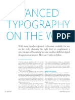 HOW Singles Advanced Typography on the Web