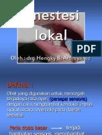 Anestesi lokal FTF