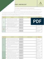 Energy Management Checklist Form