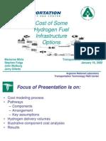 Hydrogen Fuel Infrastructure Options