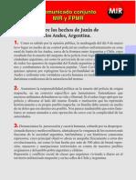 FPMR y MIR se adjudican muerte de policía argentino