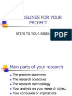 GUIDELINES FOR YOUR PROJECT