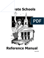 Manual of Private Schools