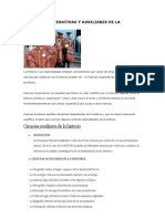 Ciencias Cooperativas y Auxiliares de La Historia