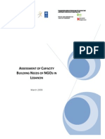 Assessment of Capacity Building Needs of NGOs in Lebanon