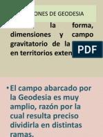 NOCIONES DE GEODESIA