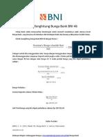 Cara Menghitung Bunga Bank BNI