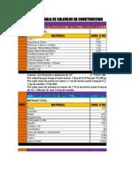 Tabla de Cálculo Materiales Drywall y Cielo Raso