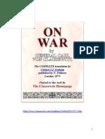 Carl Von Clausewitz on War