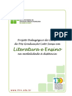 Especializacao Literatura e Ensino