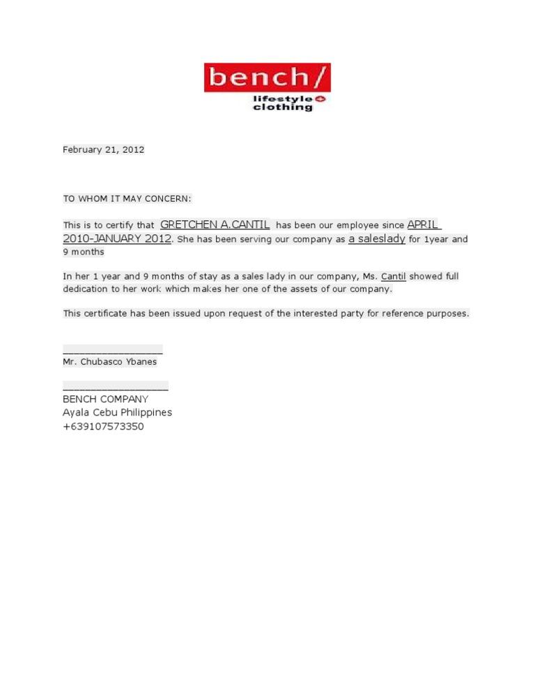 Certificate of employment samplecx certificate of employment 1 spiritdancerdesigns Gallery
