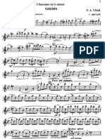 Vitali - Chaconne in G Minor Charlier Violin