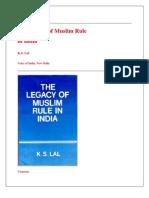 The Legacy of Muslim Rule