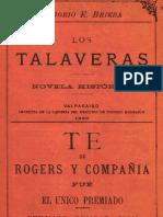 Los Talaveras. Novela histórica. 1889