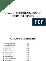 The Entrepreneurship Perspectives