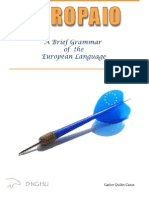 Europaio  A Brief Grammar of the European Language