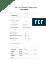 Pembuatan Tablet Naproxan Na Dengan Metode Granulasi Basah