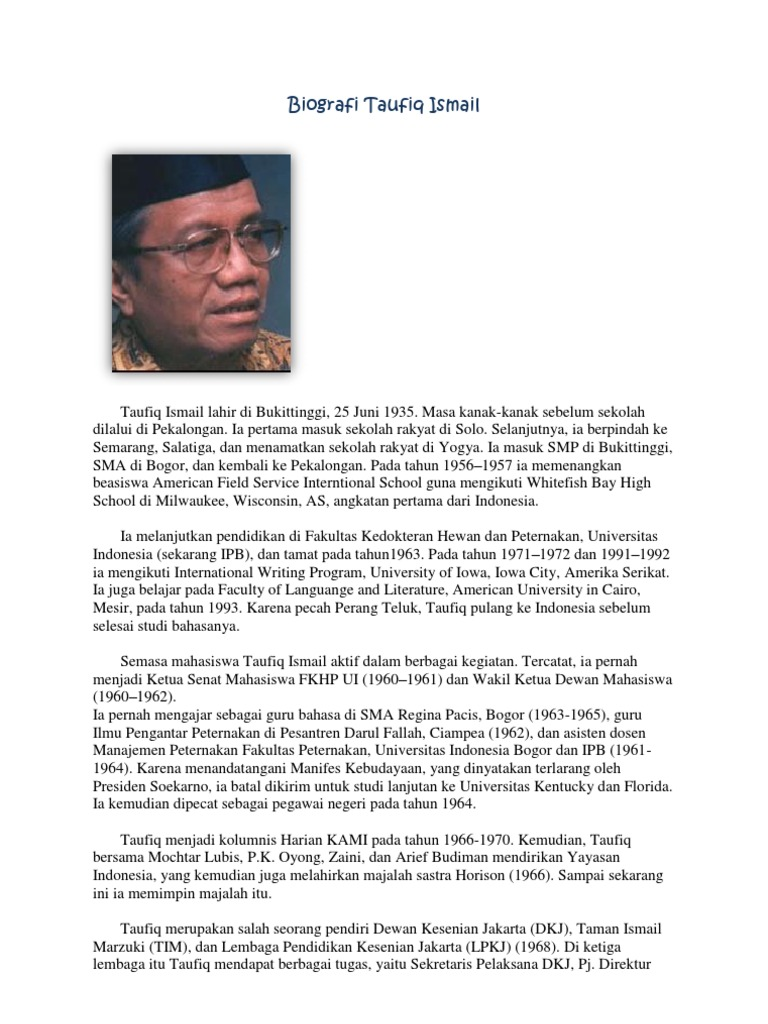 Biografi Sastrawan