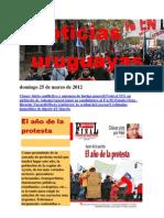 Noticias Uruguayas Domingo 25 de Marzo de 2012