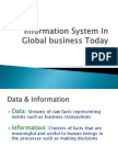 Information System in Global Business Today