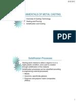 I-1 Fundemantals of Metal Casting