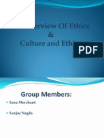 Overview of Ethics & Culture of Ethics