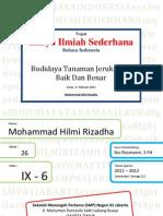 Karya Ilmiah Sederhana B.I.