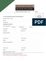NSF Application Form 2011