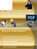 T & D Policies for Gen Y
