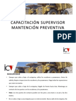 CAPACITACIÓN SUPERVISOR MANTENCIÓN PREVENTIVA (AM)
